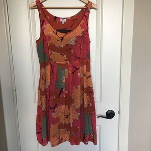 Anthropologie brand We Love Vera silk dress sz 8